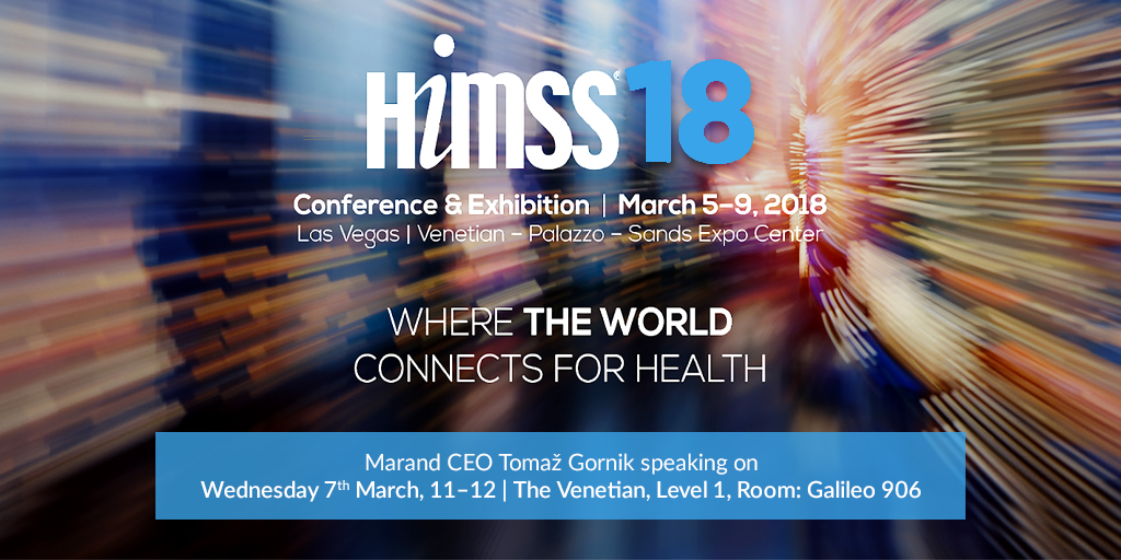 Marand CEO, Tomaz Gornik speaking at HIMSS18 in Las Vegas