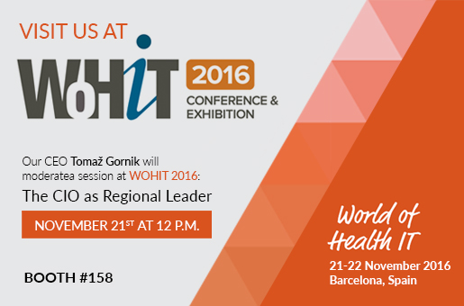 Marand moderating a session at the CIO Summit at WOHIT 2016 in Barcelona