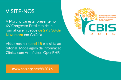 Marand exhibits at CBIS 2016 - XV Brazilian Congress of Health Informatics