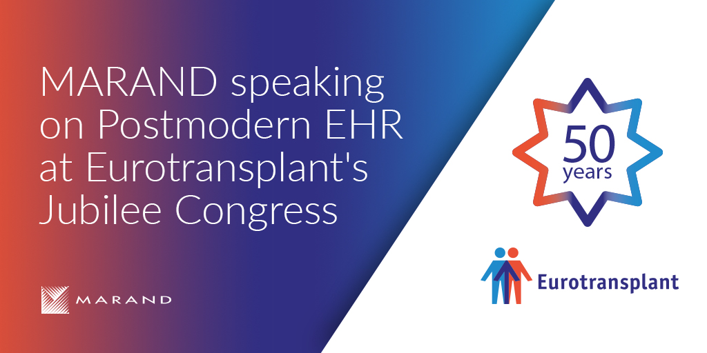 Marand speaking about Postmodern EHR at Eurotransplant's Jubilee Congress